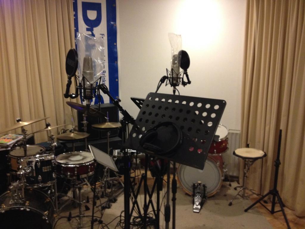 alles staat klaar voor de opnames!